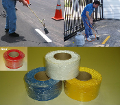 preformed melt down white yellow blue red thermoplastic pavement road striping